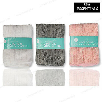 £3.49 • Buy 3 X MICROFIBER FACE CLOTH Super Absorbent  Lightweight Make Up Remover Cleansing