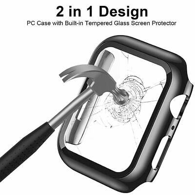 AU15.99 • Buy For IWatch Apple Watch Series6 5 4 3 38/40/42/44mm Full Glass Hard Cover Case