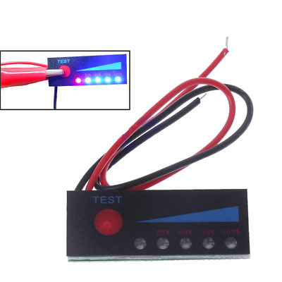 £5 • Buy LED Voltage Indicator Lithium Battery Meter Thin Accurate Module Charge Status