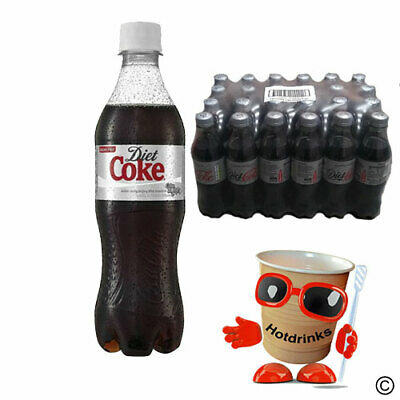 Diet Coke, Cola Soft Drink - 24 X 500ml Plastic Bottles - COLLECTION ONLY NN11 • 18£