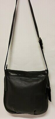 COCCINELLE Womens Cross Body Bag Medium Size Black Colour Leather • 15£