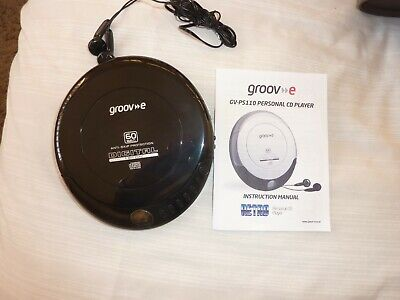 Groove Retro Personal CD Player Includes Earphones - • 10£