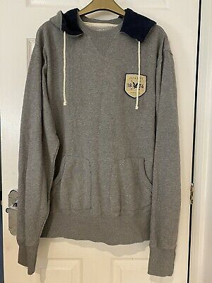 Men's Lyle And Scott Grey Hoodie Jumper Size Large • 6£