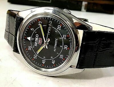 $ CDN112.40 • Buy Vintage Used Seiko Automatic 36 MM Day-Date Silver Black Dial Men's Wrist Watch