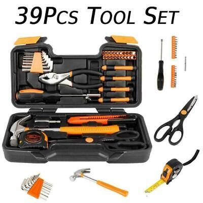 39pcs Orange Tool Set Household Tools Kit  Box Mechanics Women Ladies • 17.16£
