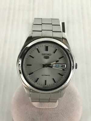 $ CDN180.58 • Buy Seiko 5 Automatic 7S26-0060 Mens Analog Watch Silver Day Date
