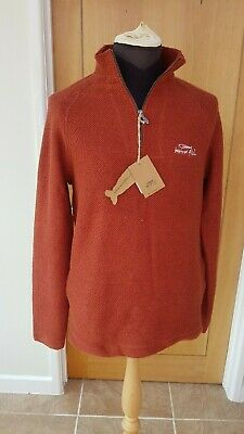 Weird Fish Macaroni 1/4 Zip Red. Small. Side Pockets 'Long And Tall' Never Worn! • 19.99£