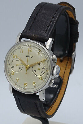 $ CDN27.15 • Buy VERY RARE VINTAGE STEEL TISSOT CHRONOGRAPH Cal.13TL 28.9 ORIGINAL PERFECT DIAL
