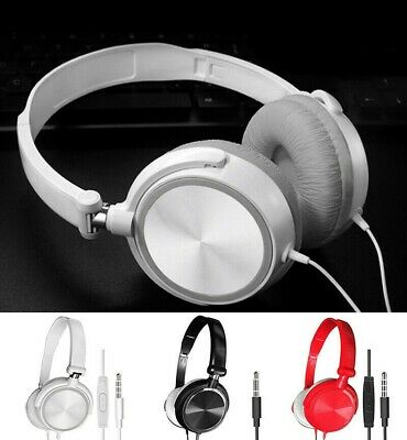 Over Ear Headphones Wired Headsets Bass Sound Earphones Microphone For PC Laptop • 3.35£