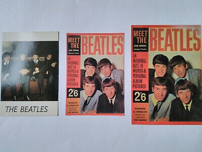 The Beatles 3 Postcards - Meet The Beatles Small/large And Group Sitting • 2£