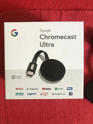 AU59 • Buy Google Chromecast Ultra 4K Great Condition Streaming Smart Tv Netflix Youtube