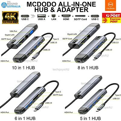 AU48.98 • Buy MCDODO All In 1 USB Type C Output 4K HDMI USB Convert Adapter HUB Fr MacBook Pro