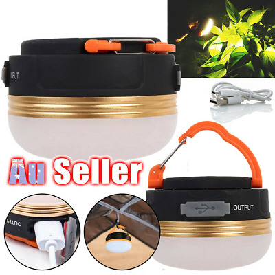 AU15.79 • Buy USB Rechargeable LED Camping Light Tent Lantern Super Bright Night Lamp Outdoor