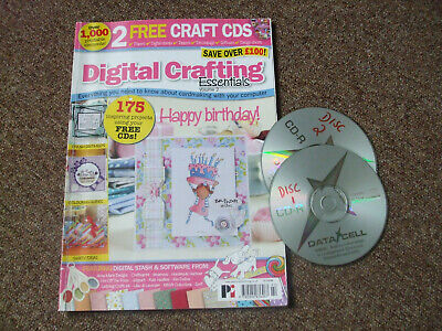 Digital Crafting Essentials Magazine And Two Cds. • 4.28£