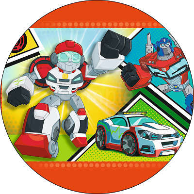 £6.50 • Buy Transformers Rescue Bots Edible Cake Topper Wafer Paper Birthday Party Deco New