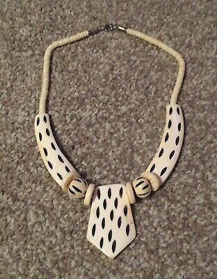 Beautiful New Bone Necklace Tribal Festival African Summer Ethnic • 3£