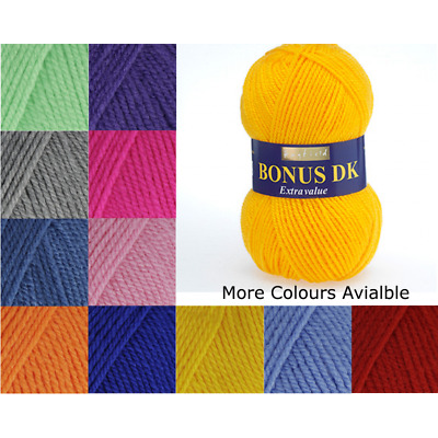 Sirdar Hayfield Bonus Extra Value Dk 100g Knitting Crochet Yarn Wool 100 Colours • 1.99£
