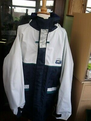 Douglas Gill Men's Outdoor Pursuits Jacket Size XL/navy/teal/white/collar/hoodGC • 7.99£