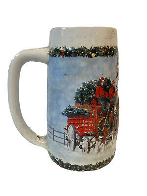"""$ CDN24.76 • Buy Budweiser(2009) Holiday Stein """"A Holiday Tradition """" CS699 Collectible Brewery"""