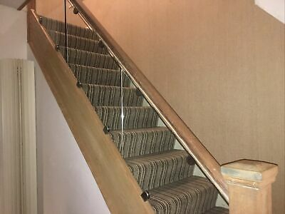 3 X Toughened Glass 10mm Stair Panels • 15£