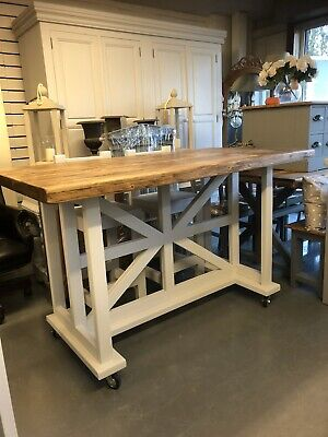 Large Unique Pine Kitchen Island Breakfast Bar,seats 6-8,Furniture Showroom Kent • 1,150£