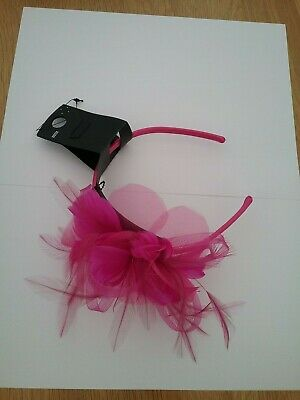 Marks And Spencer Womens Pink Feather/Jewel Headband Fascinator BNWT • 10£