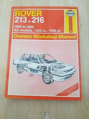 Rover 213 And 216 Haynes Owners Workshop Manual For Service And Repair • 2.80£