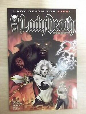 Lady Death Merciless Onslaught #1 Coffin Comics Impression Fault See Discription • 5.50£
