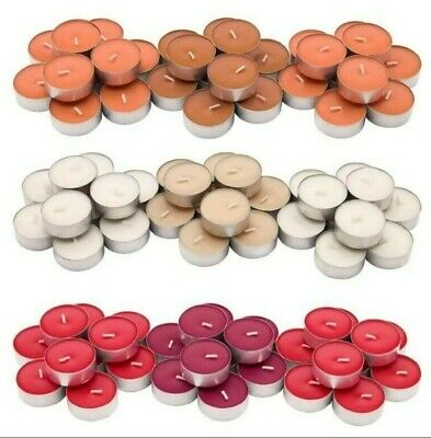Scented Tealights Candles Coloured 4h Burn Time Peach Vanilla Berry 5-30 Pc IKEA • 4.59£