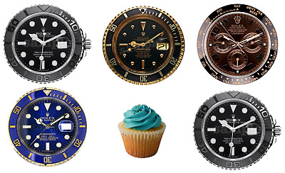 £6.50 • Buy Rolex Watch Edible Cake Topper Premium Wafer Icing Paper Birthday Party Deco