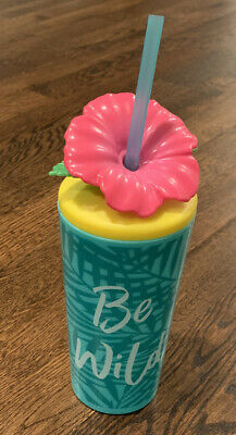 18oz Connie N Randy Be Wild Tumbler With Lid And Straw Water Bottle 💦🌸 • 4.28£