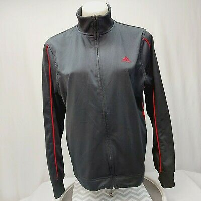 $ CDN19.01 • Buy  Adidas Track Jacket Black With Red Striped Womens Size Large Full Zip