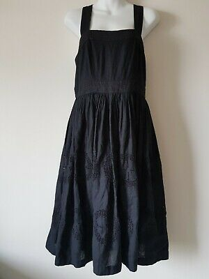 AU45 • Buy Country Road Linen Embroidered Dress Black Size 12