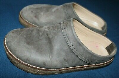 Women's Haflinger Travel Classic View Leather Slippers, Gray, Size 37 • 25.33£