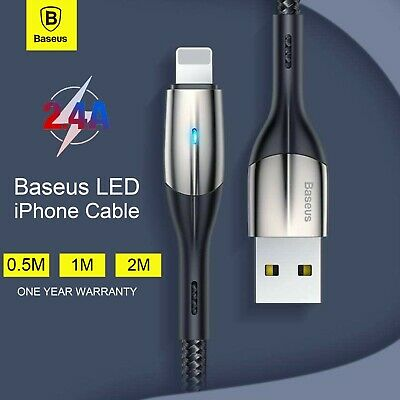 AU7.39 • Buy Baseus Nylon USB Cable Fast Charging Charger Cord For Apple Charger IPhone IPad