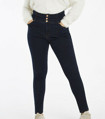 Bnwt Simply Be Denim Shape & Sculpt Extra High Waist Skinny Jeans Plus Size 32 • 4.99£