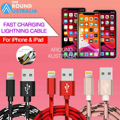 AU6.49 • Buy 1M 2M 3M Fast Charging Charger Cable For IPhone 12 Pro XS Max SE 5S 6S 7 8 Plus