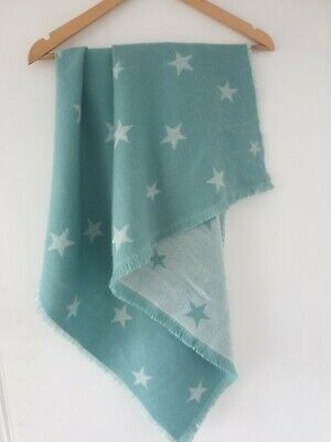 Fatface Ladies Turquoise Blue /Green Scarf With Star Design • 0.99£