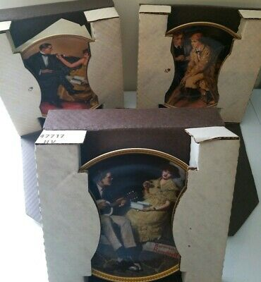 $ CDN34.76 • Buy Three (3) Edwin Knowles/Norman Rockwell China Plates In Box + Certificates 1981