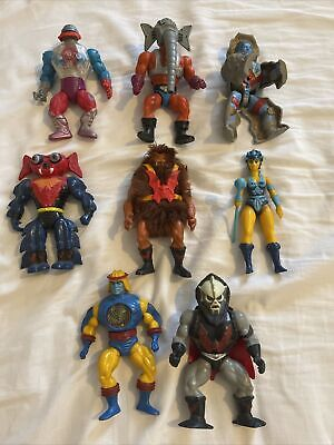 $39.99 • Buy RARE 1980s LOT OF 8 VINTAGE HE-MAN MASTERS OF THE UNIVERSE ACTION FIGURES MOTU