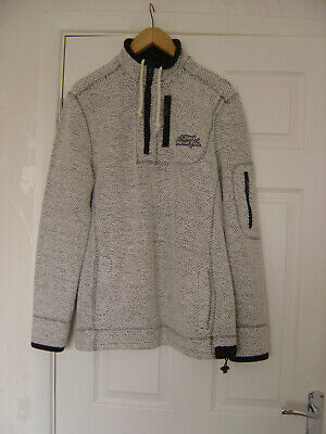Weird Fish Macaroni 1/4 Zip Sweater Mens Size M In Excellent Condition • 7.50£