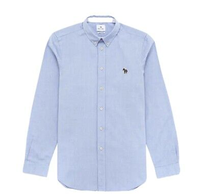 Mens Paul Smith Oxford Shirt Tailored Fit Sky Blue Size Meduim  • 10.30£
