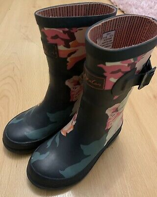 Joules Wellies Size 10 EU 28 Flower Design • 5.30£