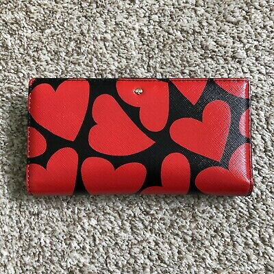 $ CDN79 • Buy Kate Spade Heart Print Stacy Fold Wallet
