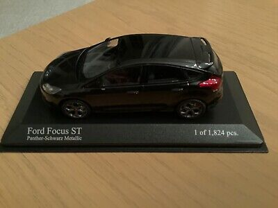 Minichamps Ford Focus ST Panther Black. Limited Edition. 1 Of 1824 Model 410 081 • 25£