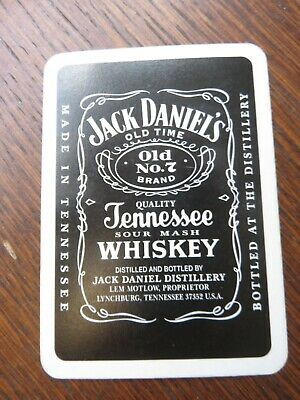 Official Jack Daniels Playing Cards In Silver Tobacco Tin From 2006 • 6£