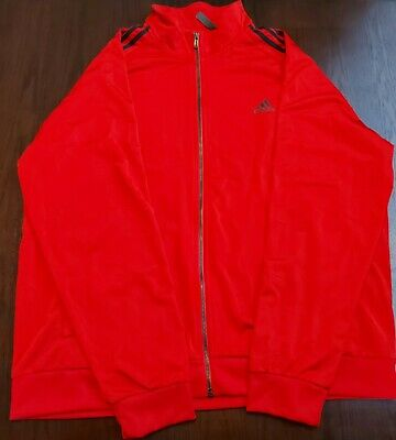 $ CDN30 • Buy Adidas Originals Men's Full Zip Track Jacket Red  Size 2XL