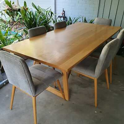 AU750 • Buy Oak Dining Table + Chairs (6 Seater)