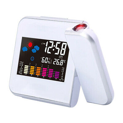 AU25.66 • Buy LED Digital Projection Alarm Clock Thermometer Desk Time Date Display Projector
