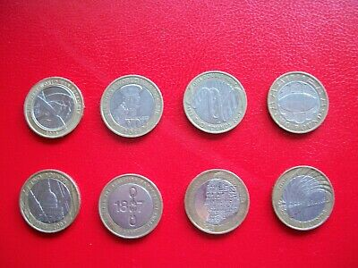 Two Pound Coin Job Lot Rare £2 Pound Coins X 8 • 23£